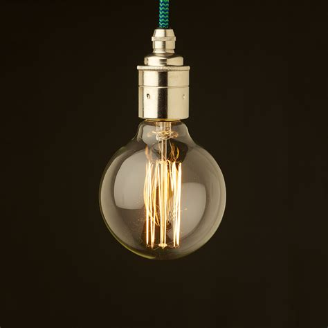 Edison Pendant Light Edison Style Light Bulb E27 Smooth Nickel Fitting