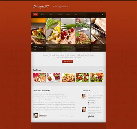 cafe and restaurant responsive joomla template 45308