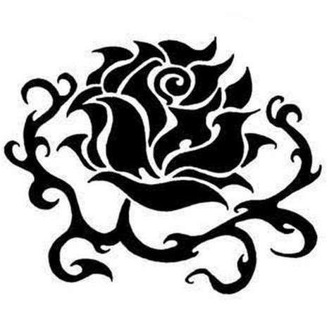 rose with tribal tattoo designs 8 beautiful black designs and ideas