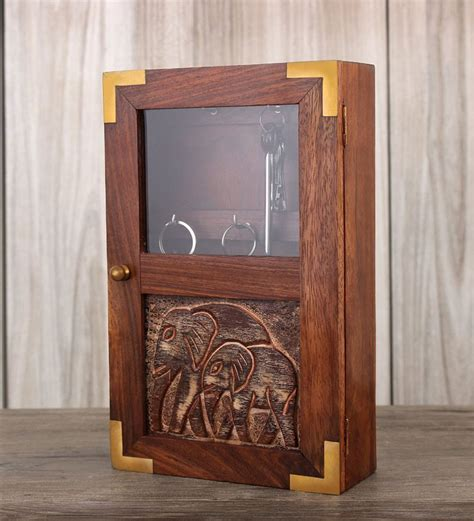 decorative wall mounted key cabinet indya wooden key cabinet by indya online key