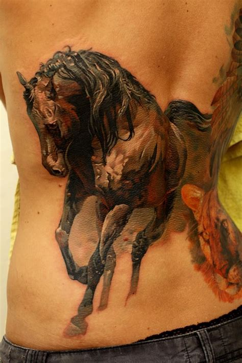great tattoo gallery great watercolor horse tattoo on back tattooimages biz