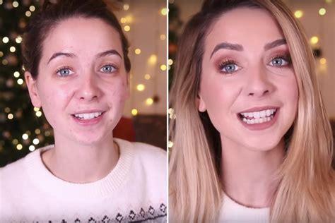 winter makeup tutorial zoella beauty bloggers with no makeup popsugar beauty australia