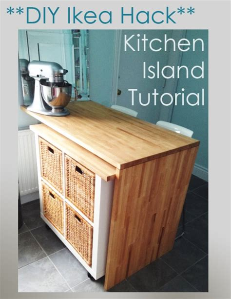 rolling island for kitchen ikea 75 best diy ikea hacks diy joy