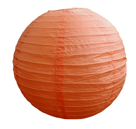 Paper Lanterns - 8 quot orange coral coral paper lantern even