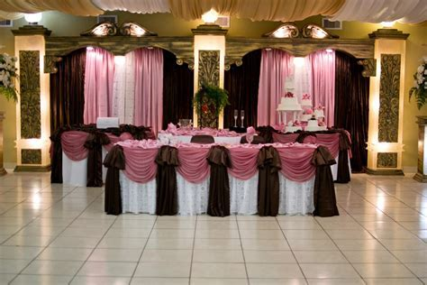 Brown Wedding Reception Decorations   Wedding Reception