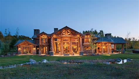 mckinney ext rear strongwood log timber homes