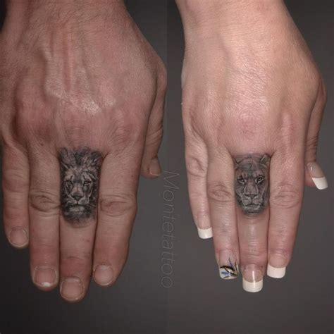 lion finger tattoo best 25 finger tattoos ideas on matching