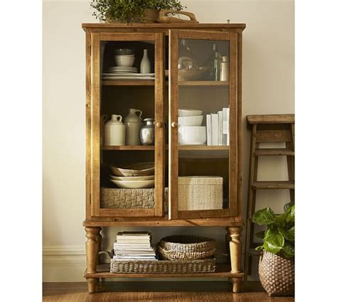 Pottery Barn Cabinet Sumner Glass Cabinet Pottery Barn