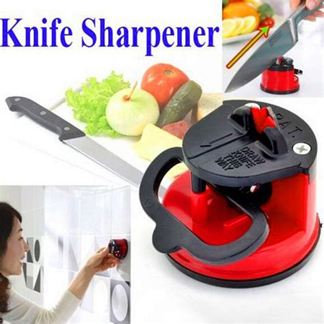 Kitchen Gadget Sucker Sharpener Knife Pengasah Pisau kitchen gadget sucker sharpener knife pengasah pisau blue jakartanotebook