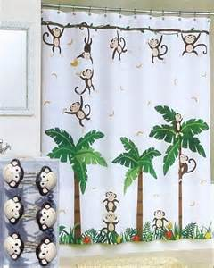 monkey shower curtain hooks new monkey tropical jungle floral white shower curtain and