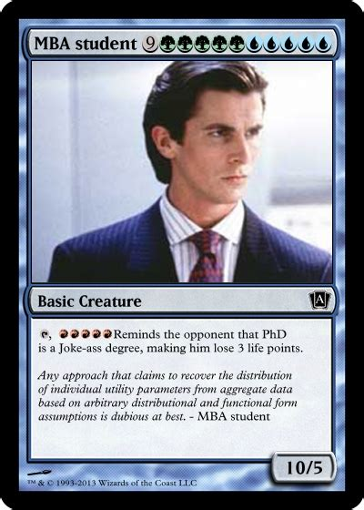 Mba Candidate Vs Student by Always Pull This Card In Seminars 171 Economics Market