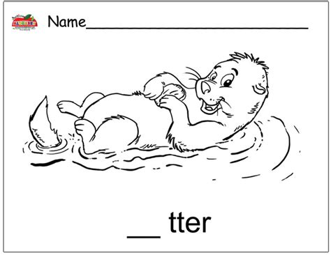 otter coloring pages coloring
