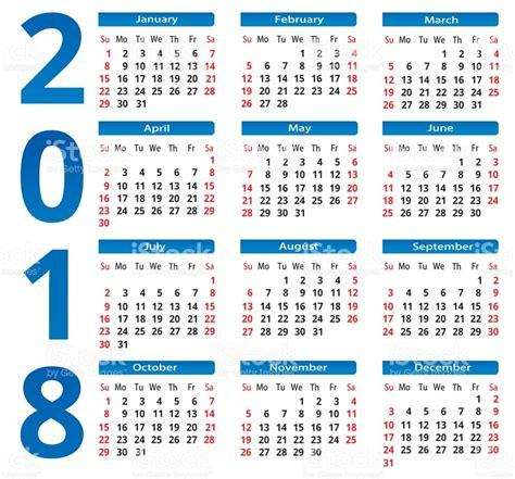 Philippines Calendario 2018 Simple Calendar 2018 Stock Vector More Images Of