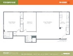 Peter Cooper Village Floor Plans 2br at peter cooper village