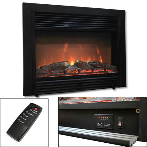 Electric Fireplace Heater Insert 28 5 Quot Electric Fireplace Embedded Heater Insert Log Wood 1500w W Remote Ebay