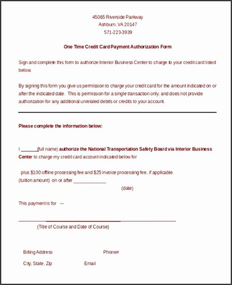 Recurring Credit Card Payment Authorization Form Template by 8 Recurring Credit Card Authorization Form Template