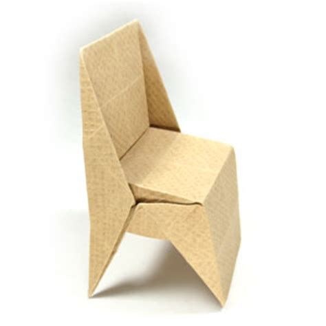How To Make A Paper Chair - how to make an origami chair with triangular legs page 1