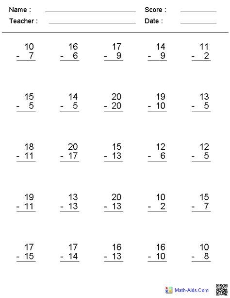 free printable math worksheets basic facts basic subtraction facts worksheets free worksheets library