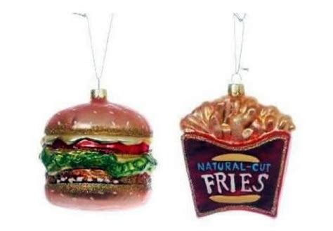 burger and fries ornament unusual and funny christmas