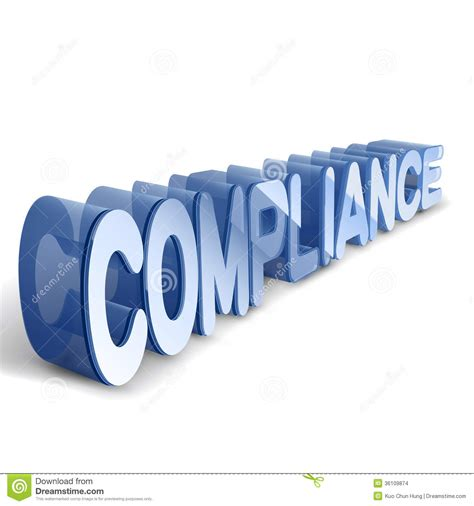 3d blue word compliance stock images image 36109874