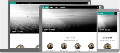 W3 Css Templates Html Homepage Template