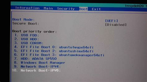 ubuntu flash disk not booting on acer aspire