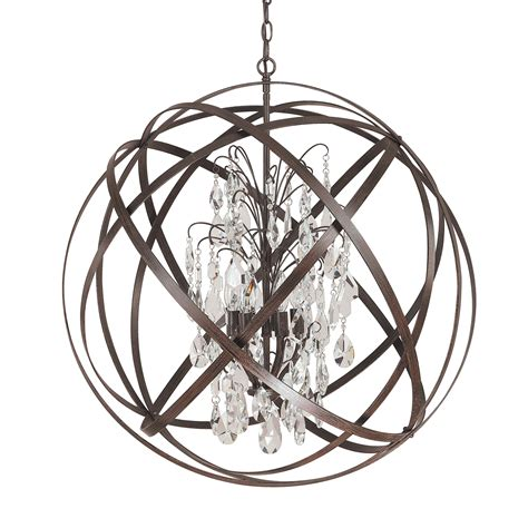 capital lighting axis 6 light globe pendant capital lighting 4236rs cr pendant lighting