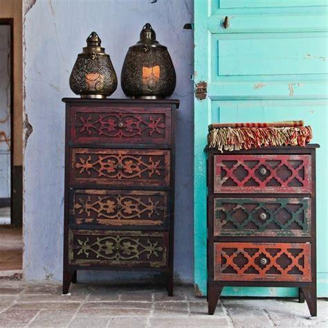 comodini orientali comodino orientale intarsiato mobili shabby chic