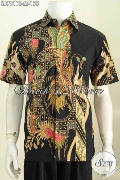 Baju Hitam Cocok Dengan baju batik tulis murah meriah hadir dengan motif trendy dasar hitam model lengan pendek cocok