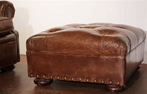ralph lauren leather ottoman large vintage ralph lauren brown leather armchair with