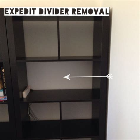 Ikea Expedit Hack by Expedit Divider Removal Ikea Hack Thriftea Kallax