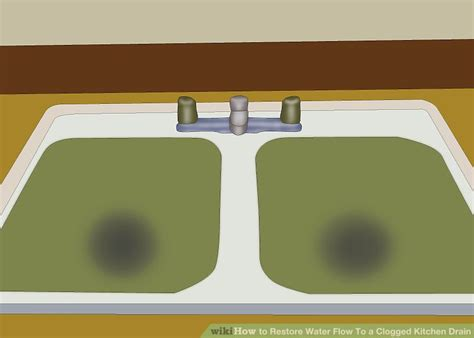 restore water flow to a clogged kitchen drain how to