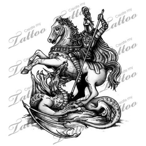 tattoo design marketplace marketplace tattoo st george slaying the dragon 2297