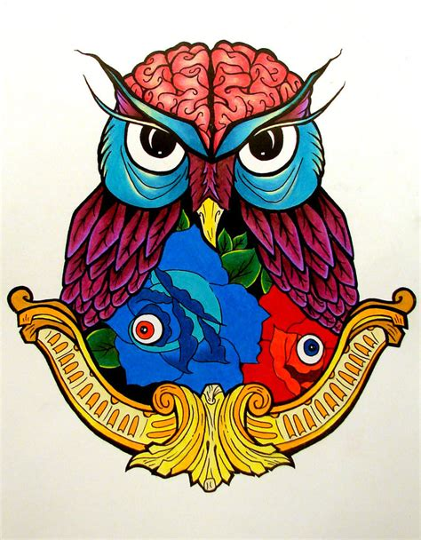 what color are owls owl drawing color