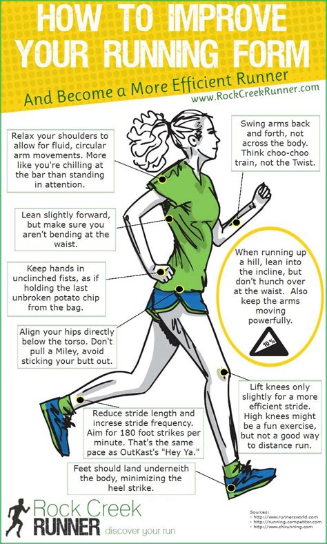 how to your to run with you how to improve your running form infographic rock creek runner