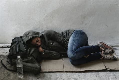 piece  meat  homeless women
