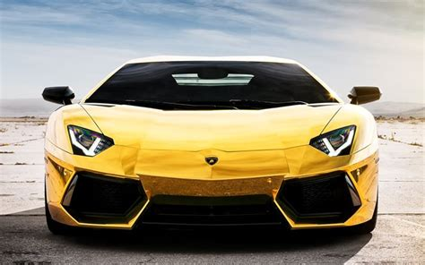 Lamborghini Front View Wallpapers Lamborghini Aventador Lp 700 4 Gold