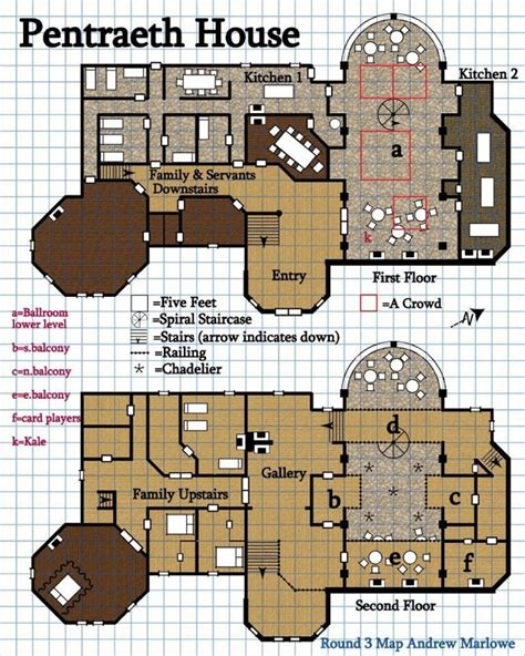 Ship Floor Plans paizo com round 3 design an encounter pentraeth house