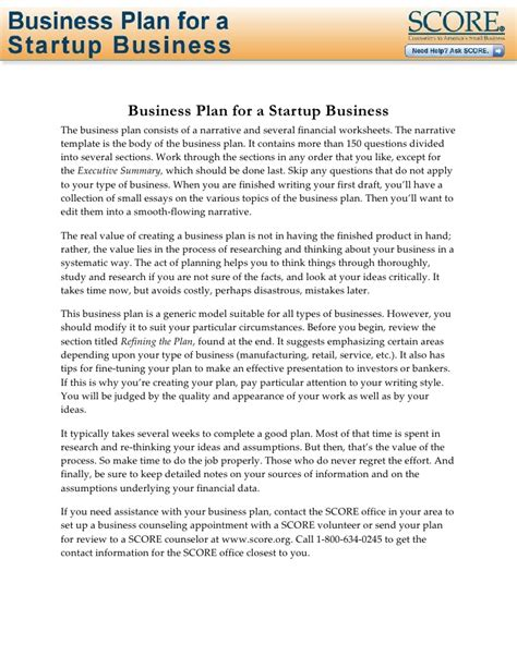 business plan template for tech startup business plan for startup business