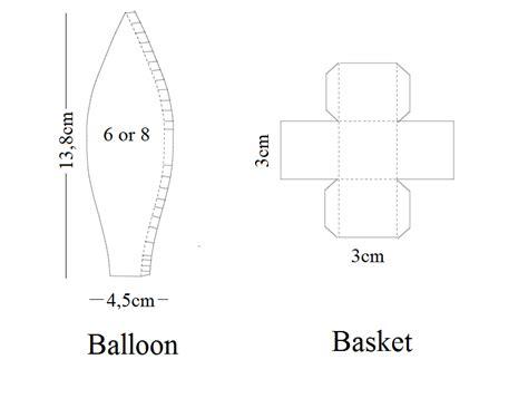 Paper Air Balloon Template