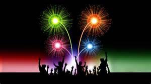 happy new year 2017 celebration animated 3d fireworks