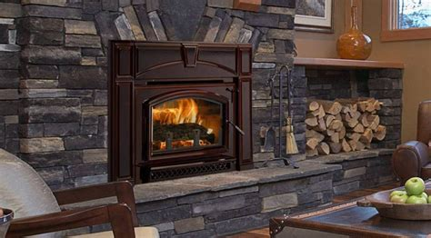 wood inserts ambler fireplace patio