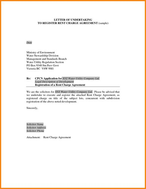 6 undertaking letter for payment hr cover letter