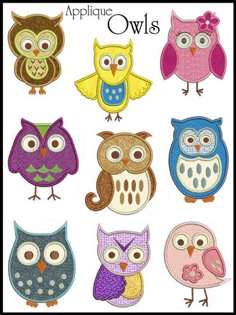 printable owl applique de 118 bedste billeder om ugler p 229 pinterest