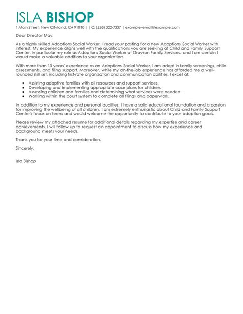 cover letters for social service best adoptions social worker cover letter exles