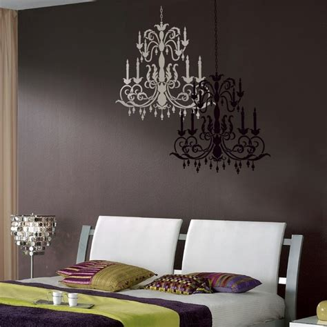 Chandelier Wall Stencil Reusable Stencil Chandelier Size Med Wall Stencils Better