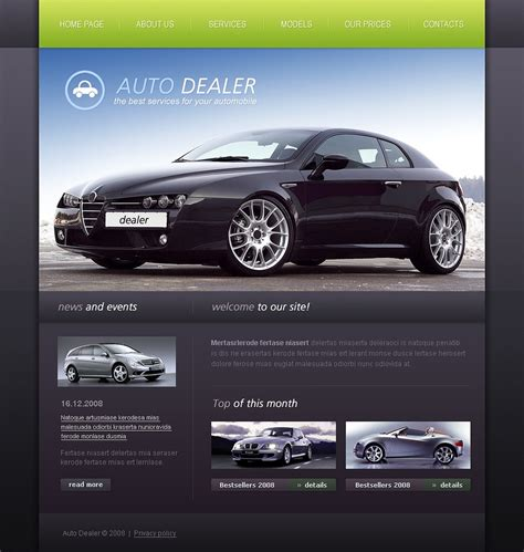 Car Dealer Website Template 19009 Car Dealer Website Template