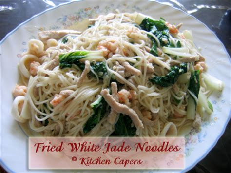 Kitchen Capers Singapore Forum Kitchen Capers View Topic Fried White Jade Noodles