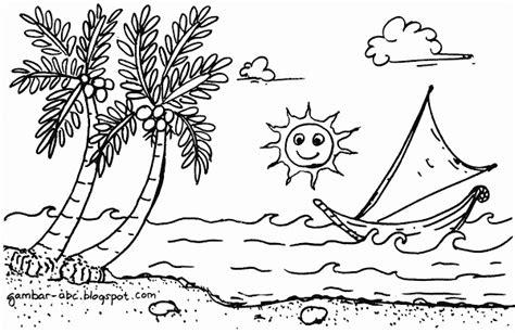 mewarnai gambar pemandangan pantai mewarnai pemandangan pantai tepi laut belajar mewarnai