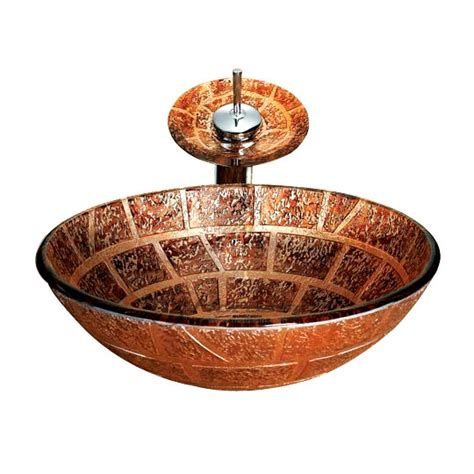 decorative glass vessels decorative pattern brown glass vessel sink round shaped